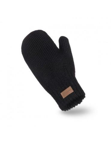 PaMaMi Damen Fäustlinge Handschuhe schwarz black 17222