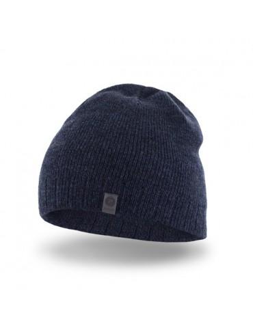 PaMaMi Herren Men Man Mütze Beanie dunkelblau blau meliert 17015