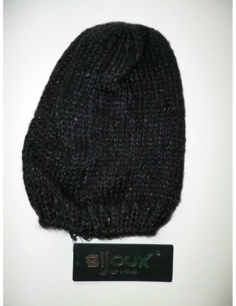 Mütze schwarz black Strick Bijoux mit Pailletten black