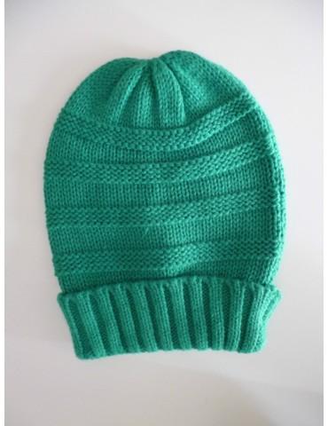 Damen Woman Strick Mütze Beanie grün grassgrün grün