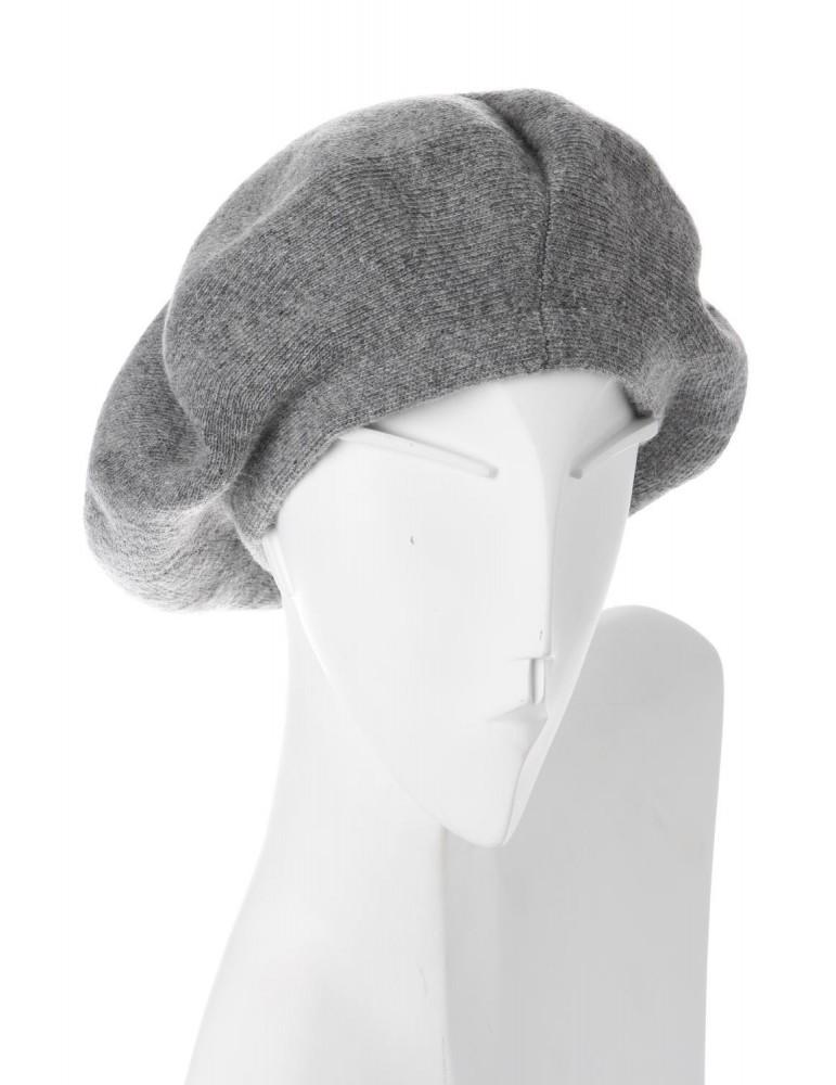 Damen Woman Base Cape Mütze grau Wolle Viskose