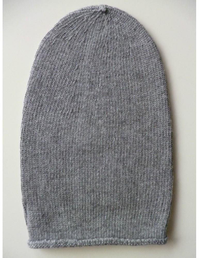 Unisex Mütze Beanie grau ohne Stern uni Made in Italy mit Kaschmir
