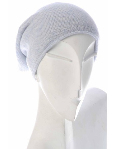 Zwillingsherz Classic Beanie Mütze hellblau uni mit Fleece und Kaschmir