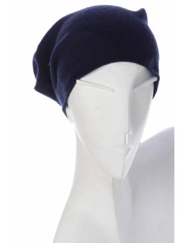 Zwillingsherz Mütze Classic dunkelblau uni ohne Stern mit Fleece u Kaschmir