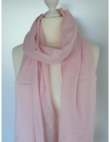 Schal Tuch rose pink weiß orange Trotteln...