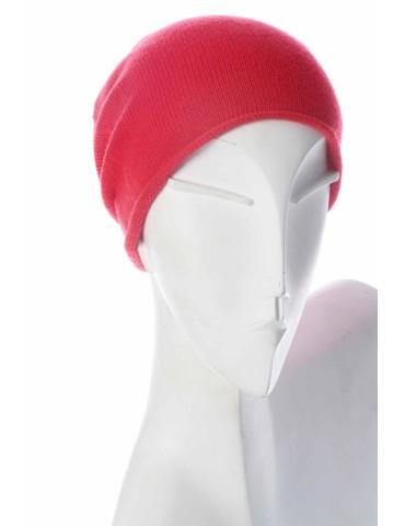 Zwillingsherz Mütze Beanie Classic feuerrot rot uni ohne Stern mit Fleece und Kaschmir