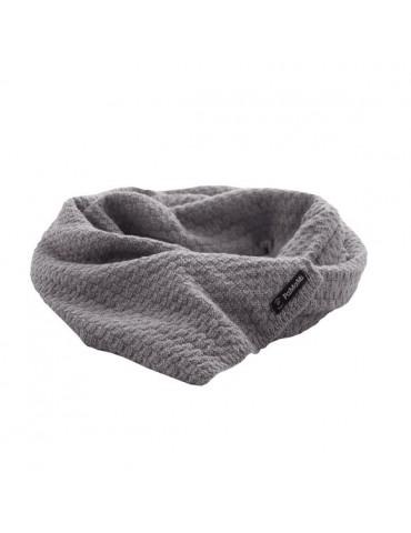 PaMaMi Damen Winterschal Schal mit Wolle hellgrau grau 16631