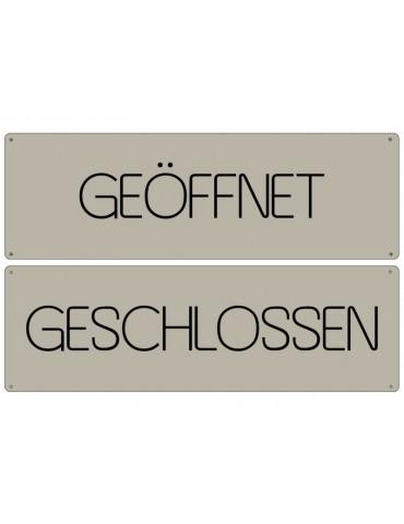 Dekoschild Metall Schild Geschlossen - Geöffnet Made in Germany Shabby Vintage