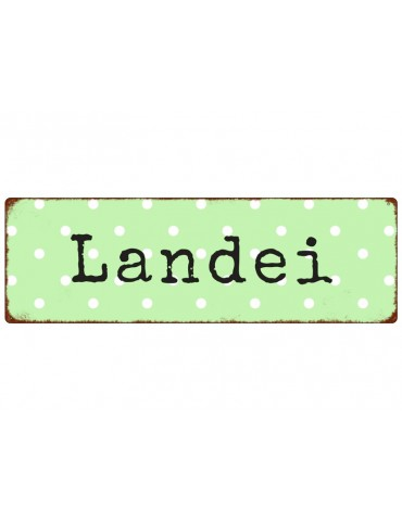 "Dekoschild Metall Schild ""Landei"" Made in Germany Shabby Vintage"