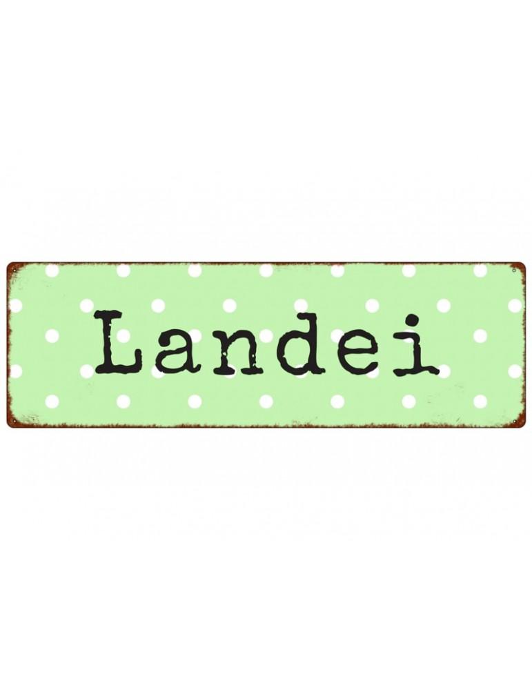"""Dekoschild Metall Schild """"Landei"""" Made in Germany Shabby Vintage"""