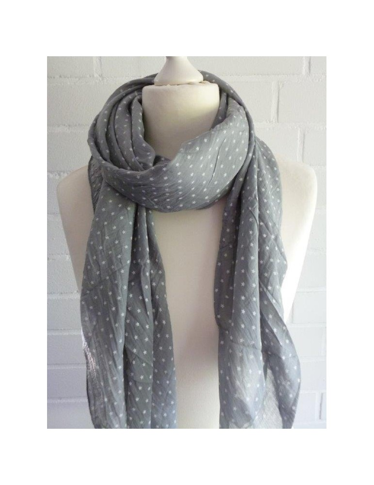 Schal Tuch Loop Made in Italy Seide Baumwolle dunkelblau Blumen in sich