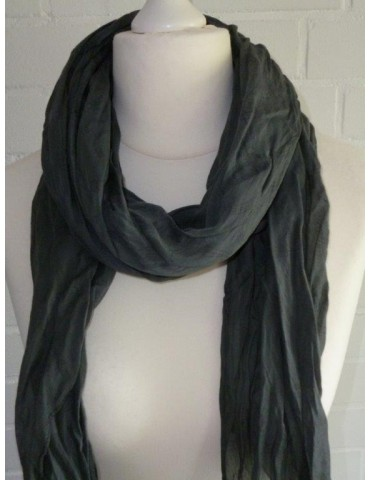 Schal Tuch Loop Made in Italy Seide Baumwolle grau schwarz Muster in sich