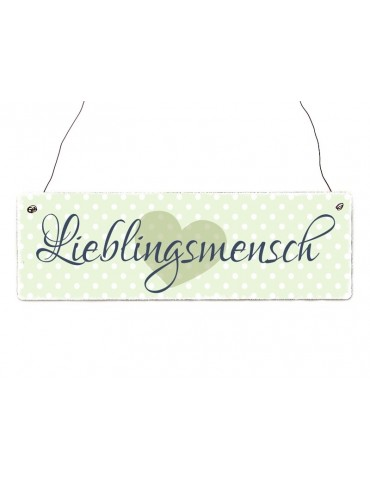 Interluxe Dekoschild Holzschild Lieblingsmensch Shabby Vintage Made in Germany Handmade