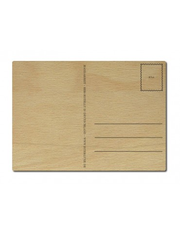 Interluxe Holz Postkarte...