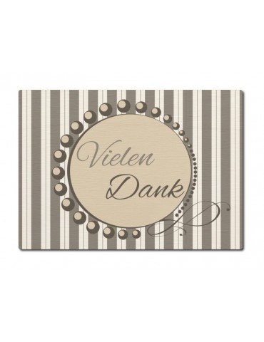 Interluxe Holz Postkarte Vielen Dank Made in Germany Handmade Shabby Vintage
