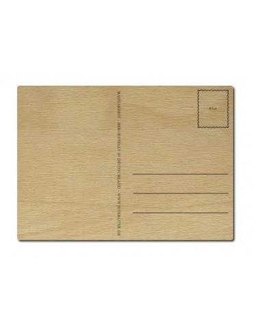 Interluxe Holz Postkarte Herzlichen Glückwunsch...
