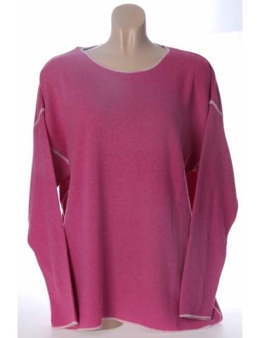 Zwillingsherz Strick Pullover Alina 1.2 pink creme Gr. M 38 mit Kaschmir
