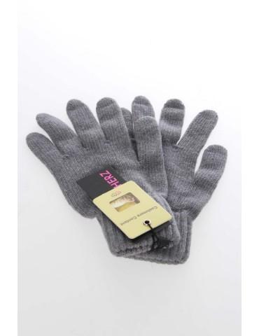 Zwillingsherz Handschuhe Fingerhandschuhe Classic grau grey uni mit Kaschmir
