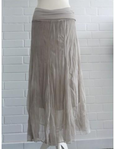 Damen Tüll Rock Kleid Ibiza Look beige sand Onesize ca. 36 - 42 Blogger Style