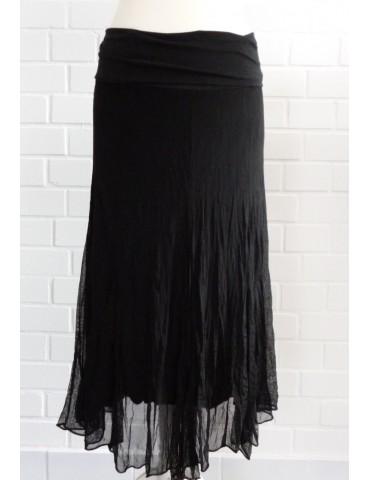 Damen Tüll Rock Kleid Ibiza Look schwarz black Onesize ca. 36 - 42 Blogger Style