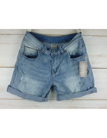 Angelina Jeans Shorts stone washed blau Gr M 38 Vintage Ibiza Style Blogger Boho