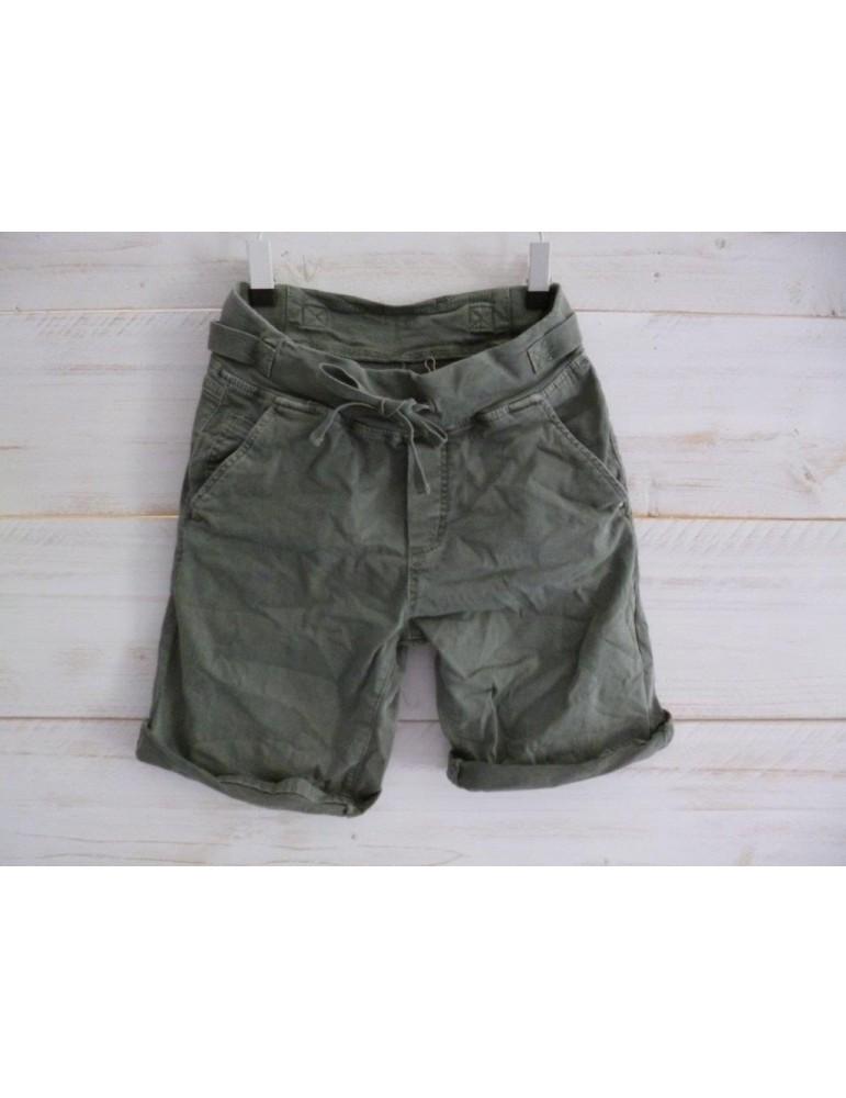Melly & Co Jeans Shorts Jogging Jog Pants khaki oliv Gr S 34 36 Vintage Ibiza