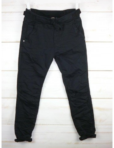 Melly & Co Jeans Hose Jogging Jog Pants schwarz black Vintage Ibiza 8139