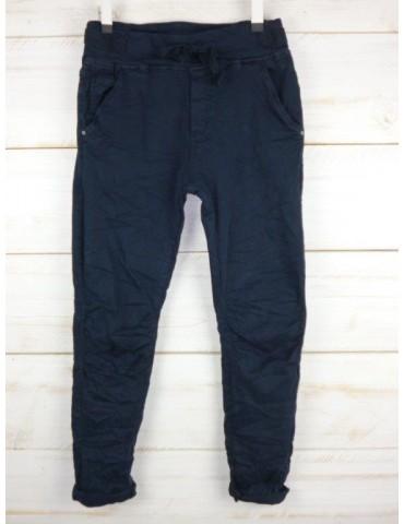 Melly & Co Jeans Hose Jogging Jog Pants dunkelblau marine Vintage Ibiza 8139