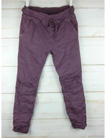 Melly & Co Jeans Hose Jogging Jog Pants weinrot bourdaux Vintage Ibiza 8139