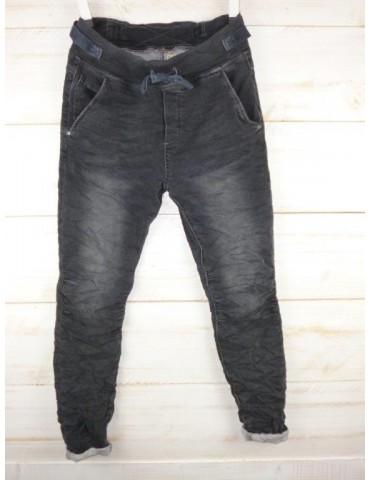 Melly & Co Jeans Hose Jogging Jog Pants grau verwaschen Jeansstoff Vintage Ibiza