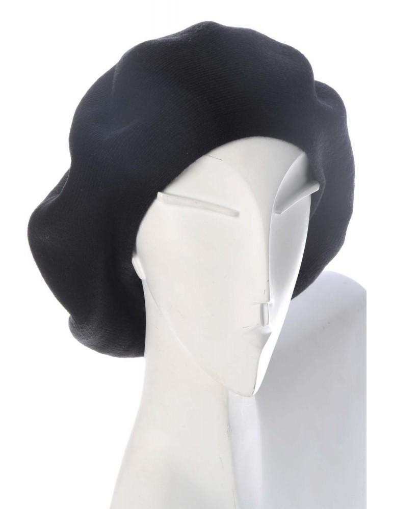 Base Cape Mütze schwarz black Wolle Viskose