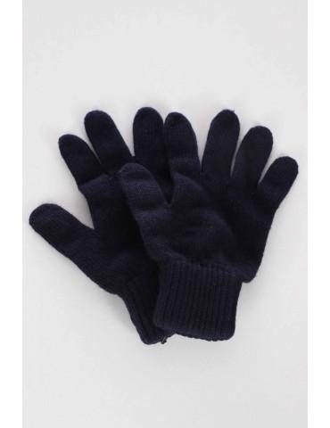 Zwillingsherz Handschuhe Fingerhandschuhe Classic dunkelblau blau uni mit Kaschmir