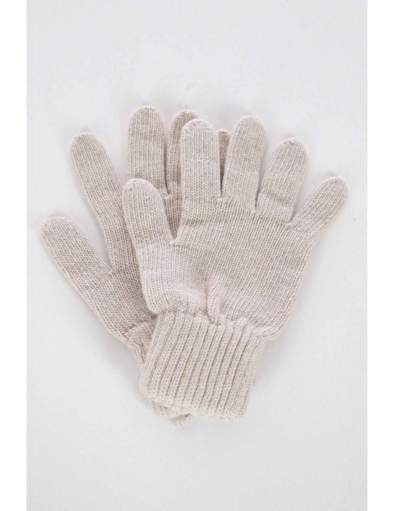 Zwillingsherz Handschuhe Fingerhandschuhe Classic natur uni mit Kaschmir