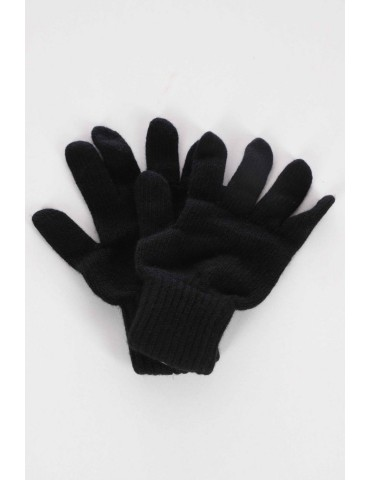 Zwillingsherz Handschuhe Fingerhandschuhe Classic schwarz black uni mit Kaschmir