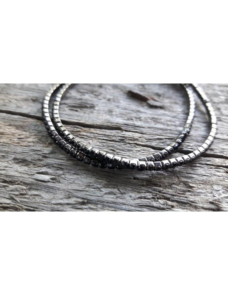 2er Set Armband Kristallarmband schwarz black Glitzer Schimmer elastisch