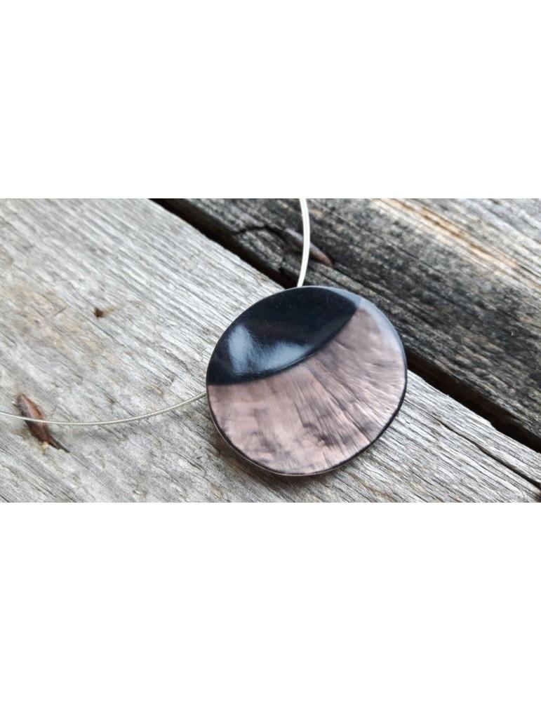 Culture Mix Damen Kette Halskette braun schwarz oval Draht 7124