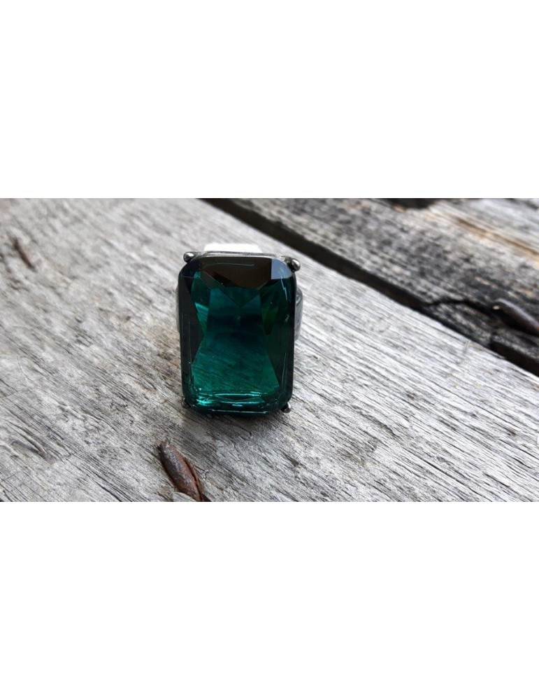 Ring Damenring Metall Kunststoff tannengrün grün anthrazit