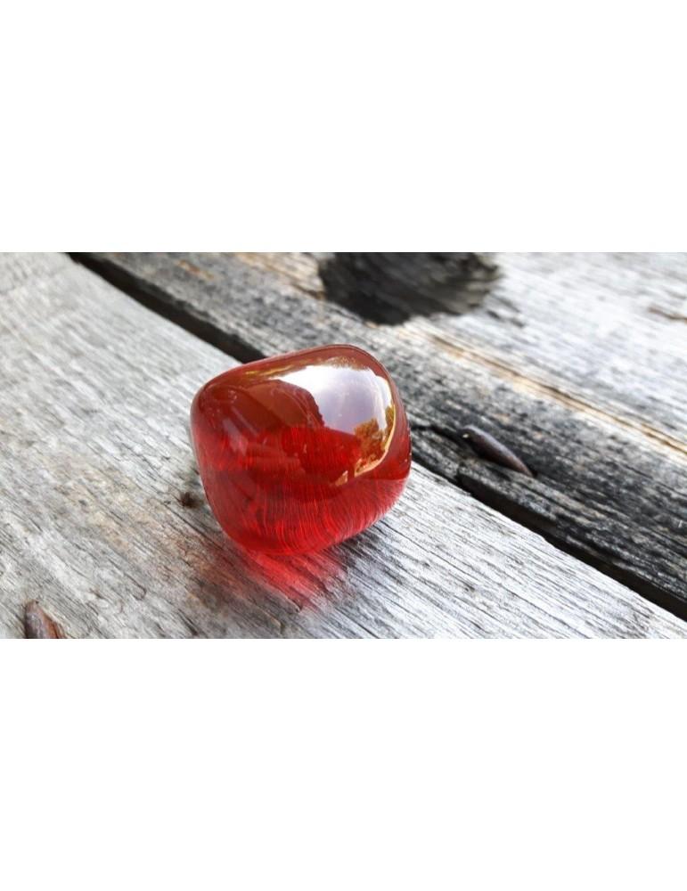Culture Mix Ring Damenring Metall Perlmutt rot red silber angerundet verstellbar 4657R