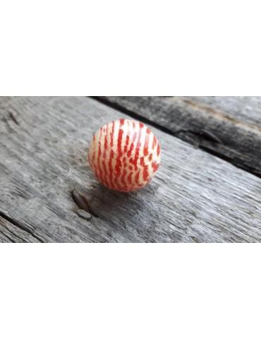 Culture Mix Ring Damenring Metall Perlmutt rot creme Kugel A2117R