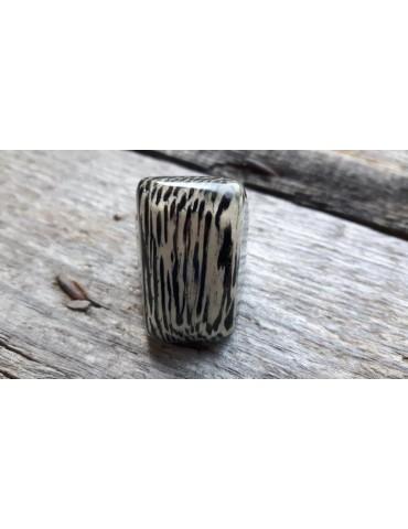 Culture Mix Ring Damenring Kunststoff schwarz creme länglich verstellbar 2116L