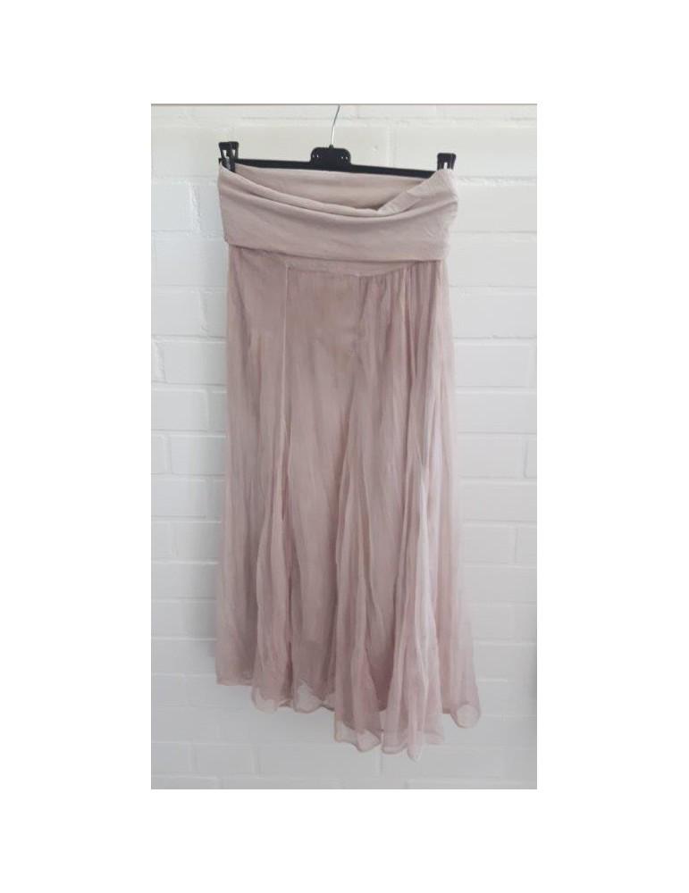 Damen Tüll Rock Kleid Ibiza Look rose rosa Onesize ca. 36 - 42 Blogger Style