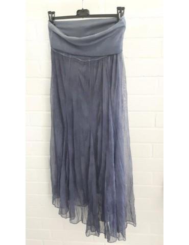 Damen Tüll Rock Kleid Ibiza Look blau bleu Onesize ca. 36 - 42 Blogger Style