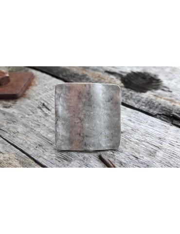 Ring Damenring Metall altsilber silber eckig flach verstellbar 13674