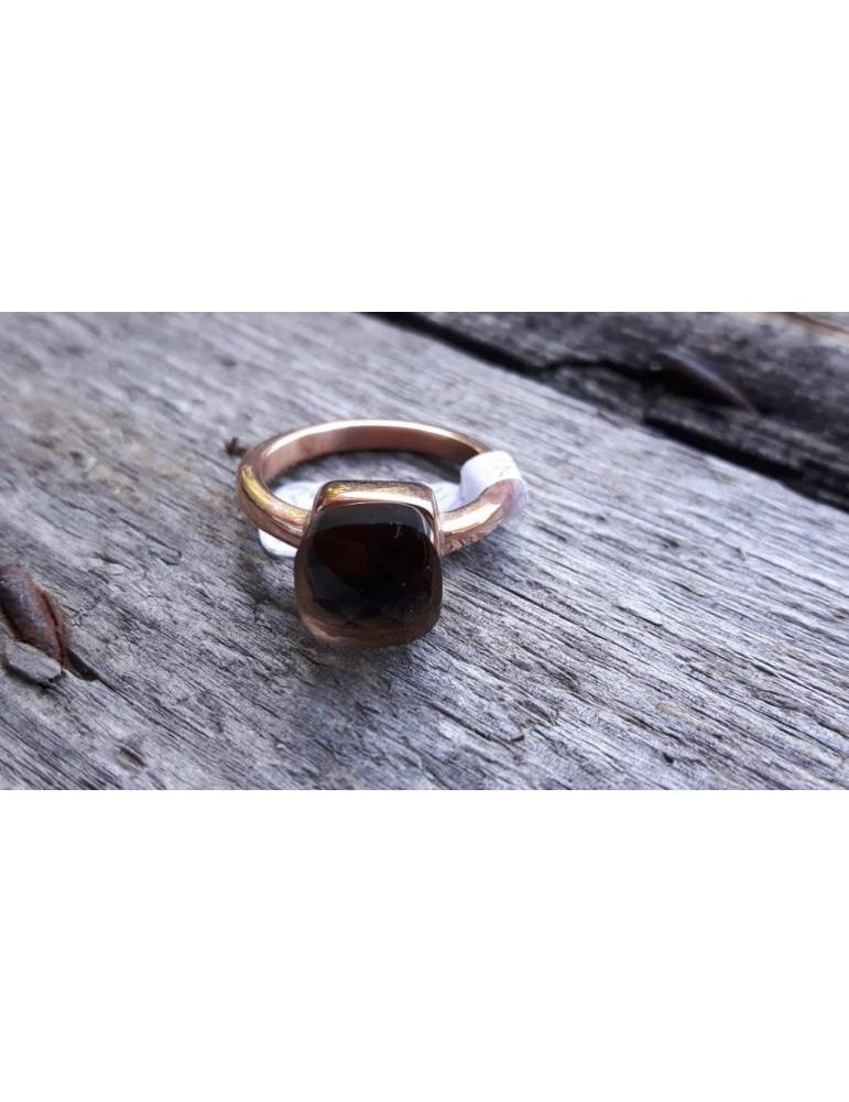 Ring Damenring Metall Kunststoff Kupfer braun Gr. 19