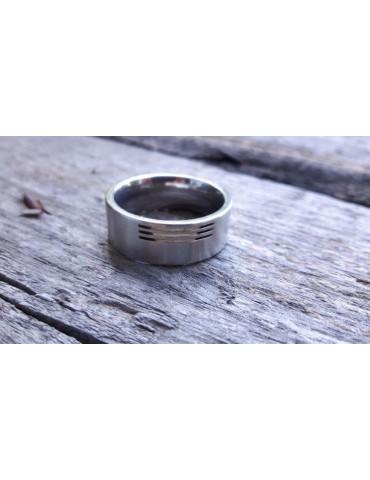 Edelstahl Ring Fingerring Herren Damen silber Gr. 66