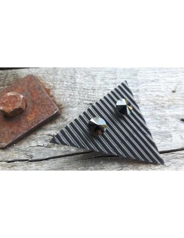 Damen Ohrringe Ohrstecker Kristall schwarz black rund 12908