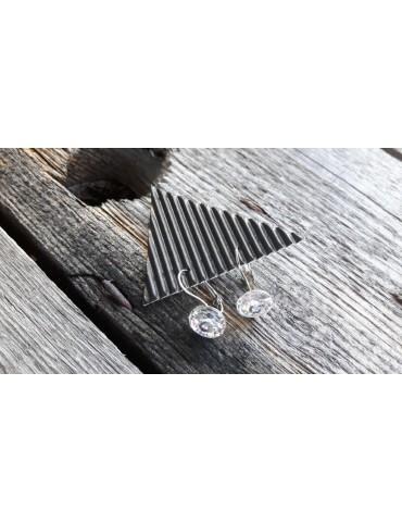 Damen Ohrringe Ohrhänger Kristall weiß white rund 12909