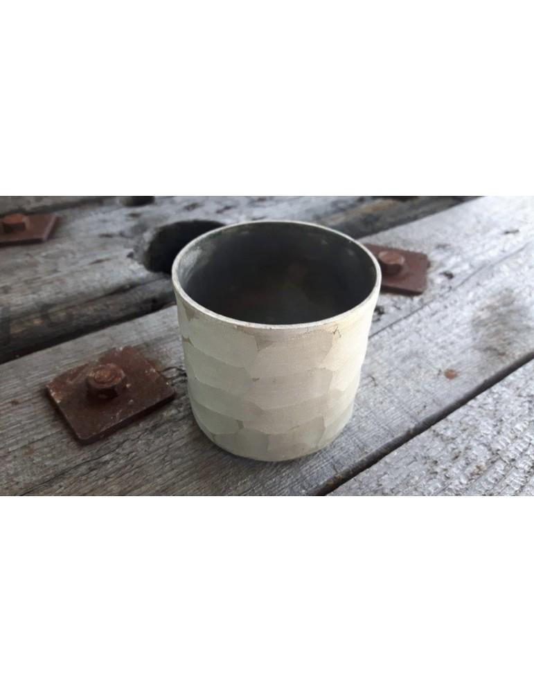 Teelicht Teelichtglas Kerzenständer Glas creme anthrazit matt 13728