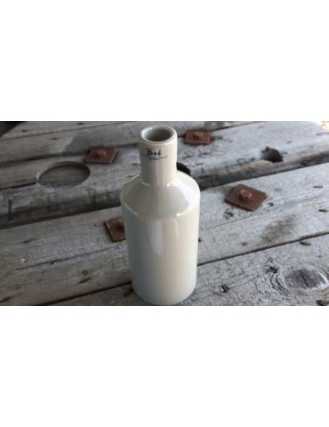 Vase Blumenvase Keramik Porzellan hellgrau taupe groß 4200134