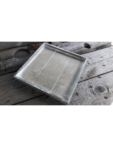 Dekobrett Holzbrett Brett für Teelichter grau verwaschen Eckig Vintage 25 x 25 x 1,8 cm 13736